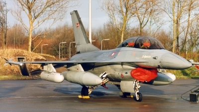 Photo ID 137907 by Jan Eenling. Denmark Air Force General Dynamics F 16B Fighting Falcon, ET 022
