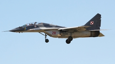 Photo ID 138594 by Ruben Galindo. Poland Air Force Mikoyan Gurevich MiG 29UB 9 51, 28