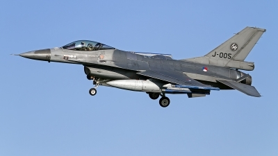 Photo ID 138794 by Niels Roman / VORTEX-images. Netherlands Air Force General Dynamics F 16AM Fighting Falcon, J 005