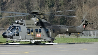 Photo ID 139050 by Martin Thoeni - Powerplanes. Switzerland Air Force Aerospatiale AS 332M1 Super Puma, T 315