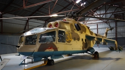 Photo ID 139318 by Lukas Kinneswenger. Algeria Air Force Mil Mi 24A, SU 97