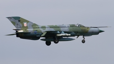 Photo ID 139691 by Chris Lofting. Croatia Air Force Mikoyan Gurevich MiG 21bisD, 122