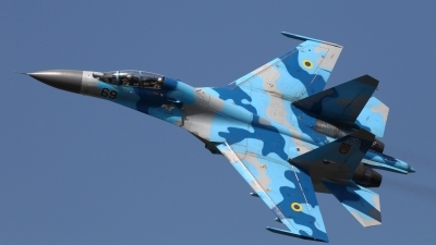 Photo ID 140308 by Dominic Maurer. Ukraine Air Force Sukhoi Su 27UB, 69 BLUE