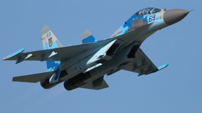 Photo ID 140307 by Dominic Maurer. Ukraine Air Force Sukhoi Su 27UB, 69 BLUE