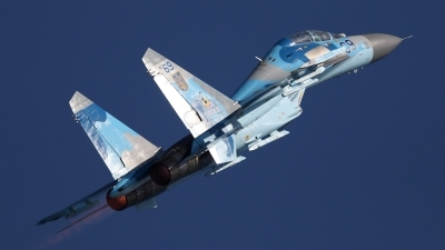 Photo ID 140310 by Dominic Maurer. Ukraine Air Force Sukhoi Su 27UB, 69 BLUE