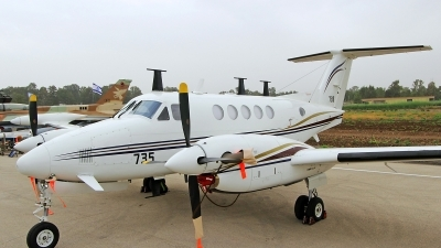 Photo ID 140599 by Jens Hameister. Israel Air Force Beech Super King Air 200T Zufit 4, 735