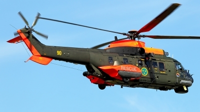 Photo ID 141606 by Carl Brent. Sweden Air Force Aerospatiale Hkp10A Super Puma AS 332M1, 10410