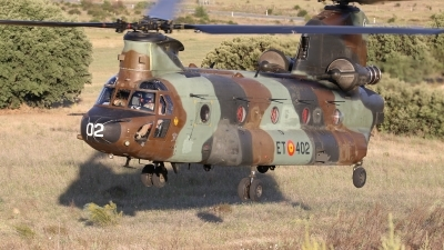 Photo ID 142317 by Rich Pittman. Spain Army Boeing Vertol CH 47D Chinook, HT 17 02