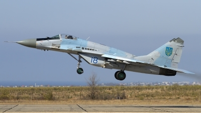 Photo ID 143786 by Chris Lofting. Ukraine Air Force Mikoyan Gurevich MiG 29 9 13, 18 BLUE