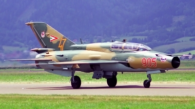 Photo ID 143845 by Sven Zimmermann. Hungary Air Force Mikoyan Gurevich MiG 21UM, 905