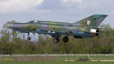 Photo ID 143919 by Chris Lofting. Croatia Air Force Mikoyan Gurevich MiG 21bisD, 117