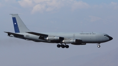 Photo ID 143994 by Lukas Kinneswenger. Chile Air Force Boeing KC 135E Stratotanker 717 100, 983