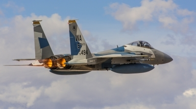 Photo ID 144091 by Steven Valinski. USA Air Force McDonnell Douglas F 15C Eagle, 78 0494