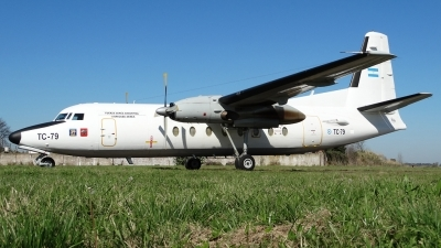 Photo ID 144420 by Martin Kubo. Argentina Air Force Fokker F 27 Mk400 Troopship, TC 79
