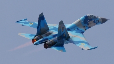 Photo ID 146414 by Maurice Kockro. Ukraine Air Force Sukhoi Su 27UB, 69 BLUE