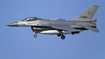 Photo ID 146894 by Niels Roman / VORTEX-images. Netherlands Air Force General Dynamics F 16AM Fighting Falcon, J 866