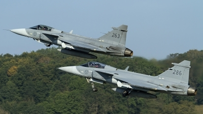 Photo ID 147180 by Thomas Ziegler - Aviation-Media. Sweden Air Force Saab JAS 39C Gripen, 39263
