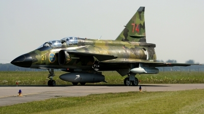 Photo ID 147256 by Alex Staruszkiewicz. Sweden Air Force Saab Sk37E Viggen, 37813