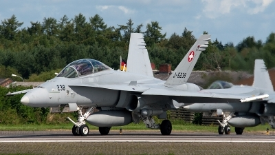 Photo ID 147472 by Jan Eenling. Switzerland Air Force McDonnell Douglas F A 18D Hornet, J 5238