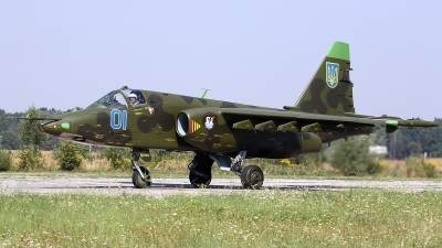 Photo ID 148388 by Carl Brent. Ukraine Air Force Sukhoi Su 25, 01 BLUE