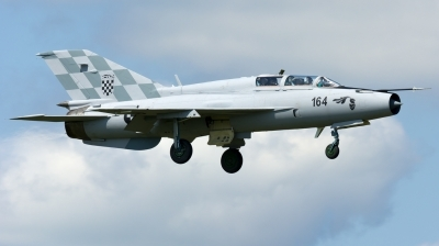 Photo ID 148791 by Massimo Rossi. Croatia Air Force Mikoyan Gurevich MiG 21UM, 164