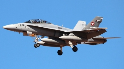 Photo ID 151233 by Ruben Galindo. Switzerland Air Force McDonnell Douglas F A 18D Hornet, J 5238