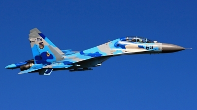 Photo ID 149961 by Radim Koblizka. Ukraine Air Force Sukhoi Su 27UB, 69 BLUE