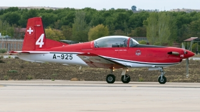 Photo ID 149982 by Jesus Peñas. Switzerland Air Force Pilatus NCPC 7 Turbo Trainer, A 925