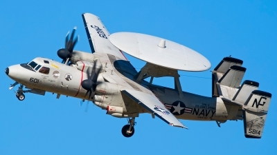 Photo ID 150011 by Ashley Wallace. USA Navy Grumman E 2C II Hawkeye, 165814