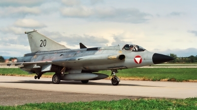 Photo ID 150657 by Radim Spalek. Austria Air Force Saab J35Oe MkII Draken, 20