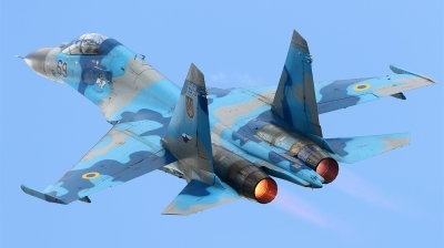 Photo ID 151069 by Ales Hottmar. Ukraine Air Force Sukhoi Su 27UB, 69 BLUE