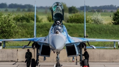 Photo ID 151308 by Antoha. Ukraine Air Force Sukhoi Su 27UB, 75 BLUE