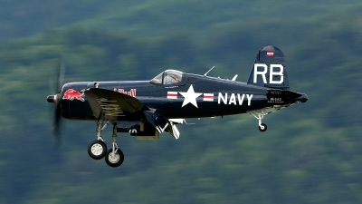 Photo ID 151597 by Werner P. Private Red Bull Vought F4U 4 Corsair, OE EAS