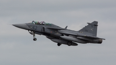 Photo ID 153592 by Doug MacDonald. Hungary Air Force Saab JAS 39 EBS HU D Gripen, 42