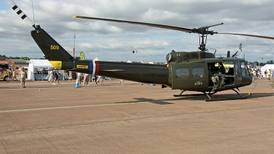 Photo ID 153666 by Jan Eenling. Private UK Huey Team Bell UH 1H Iroquois 205, G UHIH