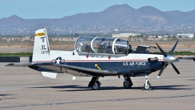 Photo ID 153527 by Lieuwe Hofstra. USA Air Force Raytheon T 6A Texan II, 02 3672