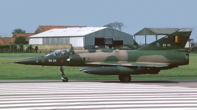Photo ID 153614 by Arie van Groen. Belgium Air Force Dassault Mirage 5BA, BA03