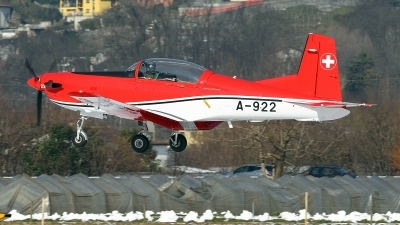 Photo ID 153770 by Carl Brent. Switzerland Air Force Pilatus NCPC 7 Turbo Trainer, A 922