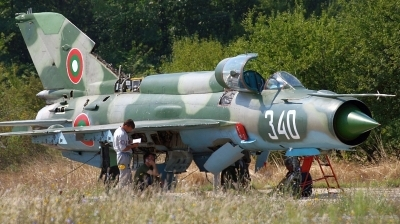Photo ID 153808 by Alexander Mladenov. Bulgaria Air Force Mikoyan Gurevich MiG 21bis SAU, 340