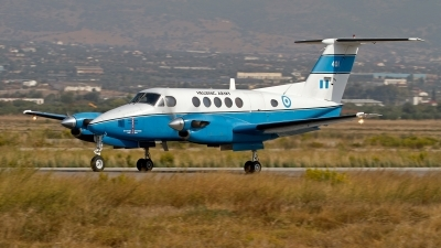 Photo ID 154264 by Niels Roman / VORTEX-images. Greece Army Beech C 12C Huron Super King Air A200, 401