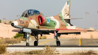 Photo ID 154555 by Andreas Zeitler - Flying-Wings. Israel Air Force McDonnell Douglas TA 4J AyitM, 704