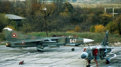 Photo ID 154675 by Alexander Mladenov. Bulgaria Air Force Mikoyan Gurevich MiG 23MF, 647