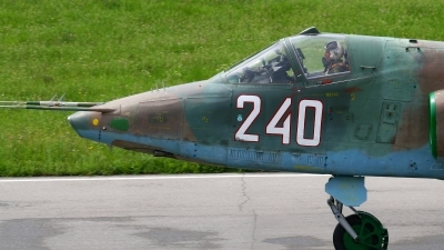 Photo ID 154726 by Alexander Mladenov. Bulgaria Air Force Sukhoi Su 25K, 240