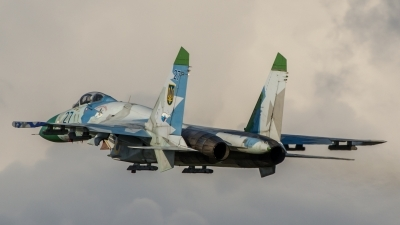 Photo ID 154948 by Antoha. Ukraine Air Force Sukhoi Su 27S, 27 BLUE