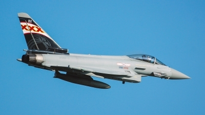 Photo ID 157372 by Reto Gadola. UK Air Force Eurofighter Typhoon FGR4, ZK343