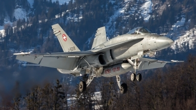 Photo ID 156454 by Ron Kellenaers. Switzerland Air Force McDonnell Douglas F A 18C Hornet, J 5019
