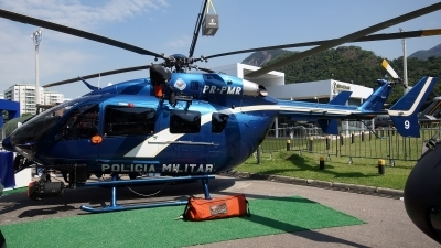Photo ID 156746 by Lukas Kinneswenger. Brazil Police Eurocopter EC 145C 2, PR PMR