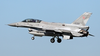 Photo ID 156698 by Carl Brent. Poland Air Force General Dynamics F 16D Fighting Falcon, 4086