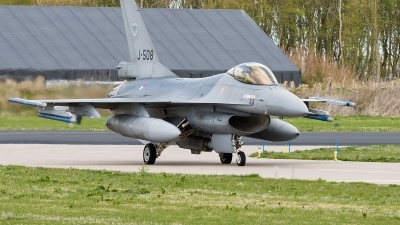 Photo ID 157192 by Alex van Noye. Netherlands Air Force General Dynamics F 16AM Fighting Falcon, J 508
