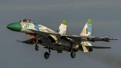 Photo ID 157314 by Antoha. Ukraine Air Force Sukhoi Su 27, 27 BLUE